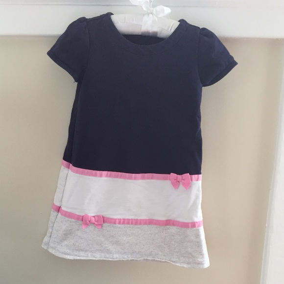 17aaf6ef4 Gymboree French Terry Color Block Ribbon Dress